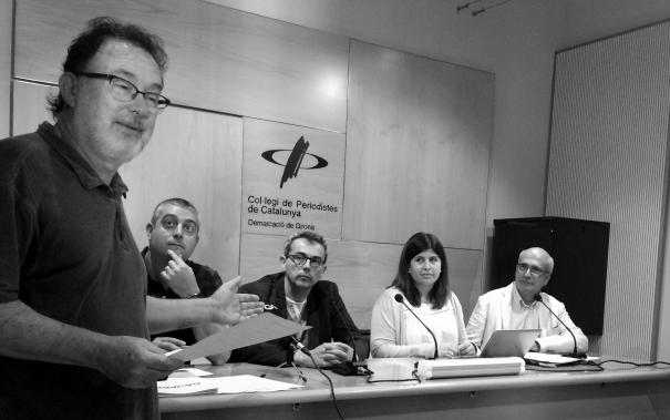 Joan Ventura, president de la Demarcació de Girona del Col·legi, dóna la benvinguda a Gavarres365