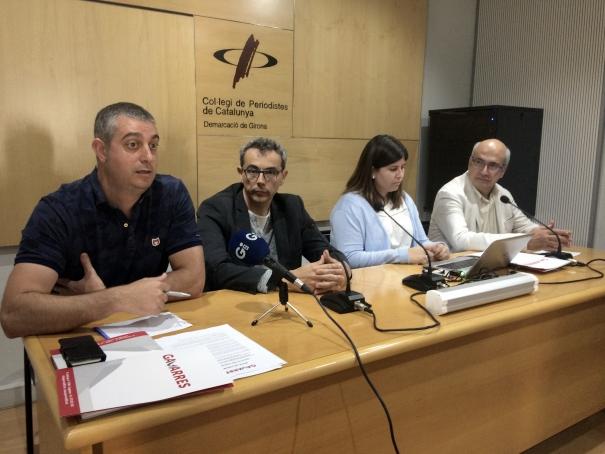 Marc Sureda, Jordi Ribot, Elena Trullàs i Joan Castro, l'equip de Gavarres365.
