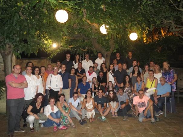 La foto de grup del IX Sopar de Periodistes de Girona!