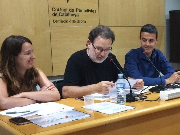 Sílvia Planas, Joan Ventura i Xevi Masachs.