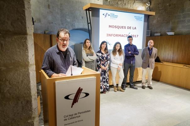 Manifest conjunt de la Junta de Girona llegit pel president, Joan Ventura.