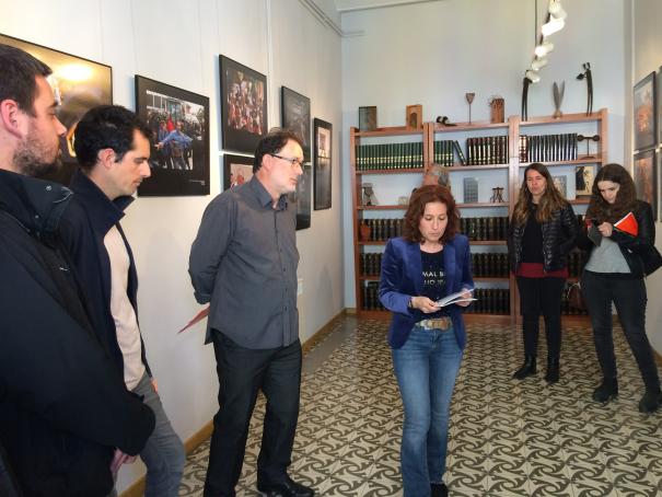 Un moment de la inauguració de la mostra.