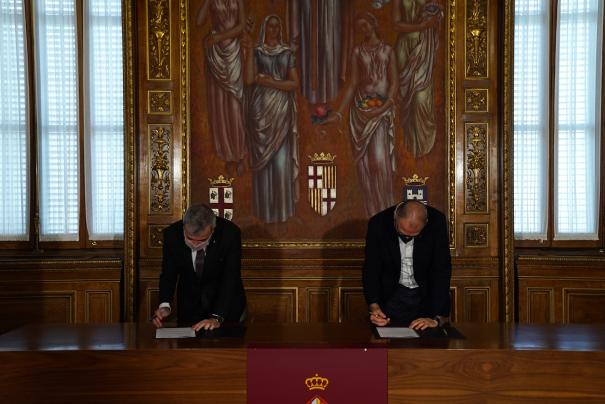 El Col·legi de Periodistes de Catalunya signa un conveni de col·laboració amb l'Ajuntament de Barcelona