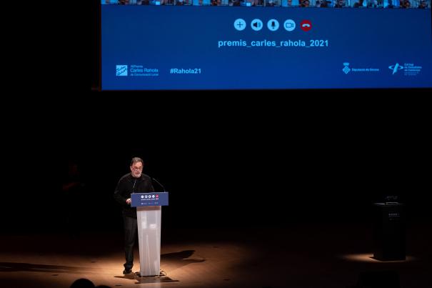 El president de la Demarcació de Girona del Col·legi de Periodistes, Joan Ventura.