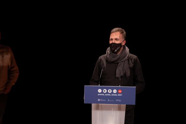 Carlus Gay va fer el discurs en nom del seu equip.