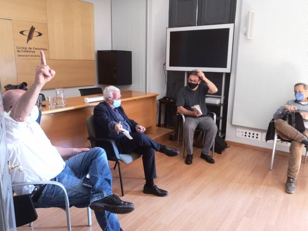 Plàcid Garcia-Planas, Tomàs Alcoverro i Joan Ventura.