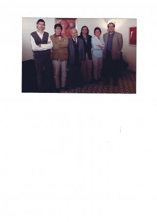 La Junta elegida al 1997: Lluís Freixas, Carles Puigdemont, Pere Madrenys, Enric Matarrodona, Maui Lleal i Salvador Garcia-Arbós.